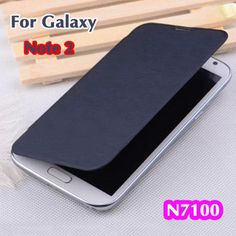 Original Flip Leather Cases Back Cover Battery Housing Case For Samsung Galaxy Note II 2 Note 2 N7100 7100 Free shipping