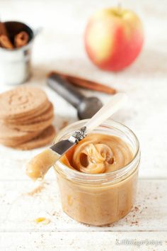 Spreadable Cinnamon Apple Caramel makes a welcome change from regular caramel. Keep a jar in the fridge for pancakes, toast, ice-cream and crumpets.