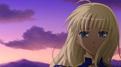 Preview wallpaper anime, girl, sunset, wind, clouds, sky 1920x1080