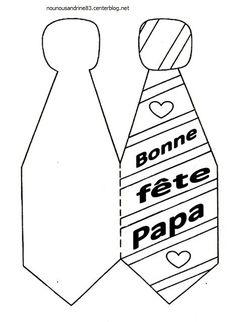 activité manuelle : fête des papas : la cravate