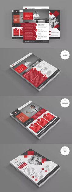 Corporate Flyers Template AI, EPS - A4
