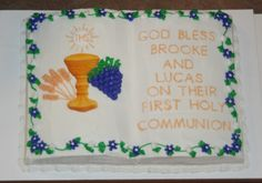 First Holy Communion Bible shaped cake