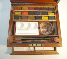 Rudolph Ackerman watercolor box circa 1830