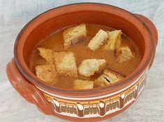 Reteta culinara Supa de chimen cu boia din categoria Supe. Specific Romania. Cum sa faci Supa de chimen cu boia Supe, Hummus, Toast, Ethnic Recipes, Food, Essen, Meals, Yemek, Eten