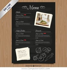 Cafe Menu Restaurant Brochure Food Design Template  Venta