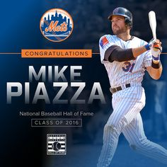 Mets Mike Piazza Baseball Hall of Fame 2016