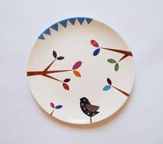 Bird wall hanging plate by ZuppaAtelier on piiqshop!  http://www.piiqshop.com/ev-bahce/mutfak-yemek-odasi/tabak/bird-wall-hanging-plate.html