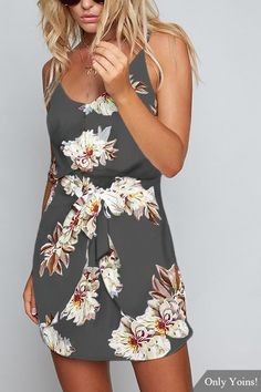 Get it or regret it. This cami dress is our current obsession and it is a must have item. It is adorned with sleeveless and floral print. Pair it with high heels.