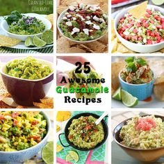 Guacamole Roundup | 2CookinMamas Awesome guacamole recipes for the best bloggers around!