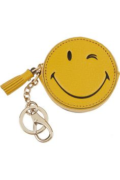 569fd15779 Anya Hindmarch - Wink leather keychain. Zipper BagsReal Leather  WalletLeather KeychainLeather BagTote HandbagsTote BagsAnya ...