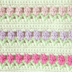 Nice stitch to add when making a stripy crochet afghan/blanket Beau Crochet, Knit Or Crochet, Crochet Crafts, Crochet Hooks, Crochet Projects, Crochet Motifs, Crochet Stitches Patterns, Stitch Patterns, Knitting Patterns