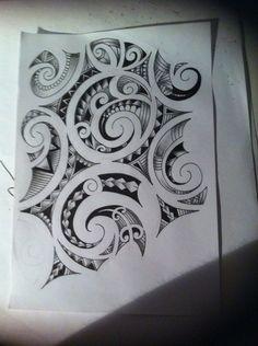 maori tattoo | Maori tattoo design by tattoosuzette