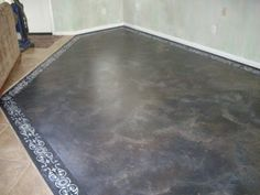 Concrete floor painted to look like Travertine: Step By Step Instructions On How To Prep. And Paint Concrete Floors Painted Concrete Floors, Painting Concrete, Faux Painting, Stained Concrete, House Painting, Diy Painting, Concrete Staining, Concrete Casting, Concrete Porch