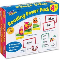 Trend Reading Power Pack Learning Cards, Multicolor