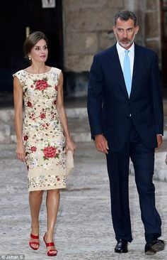 Queen Letizia and King Felipe VI help host a dinner while they enjoy some time off for the...
