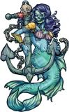 Mermaid & Anchor Tattoo