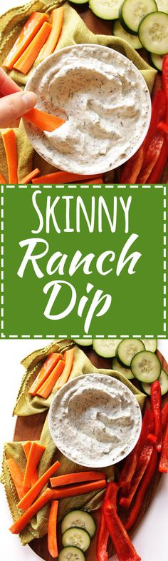 Skinny Ranch Dip - Delicious, thick, creamy ranch dip recipe that's ...