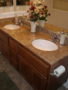 Wild Whitney's: Faux Granite Countertop for less than 25 Bucks!