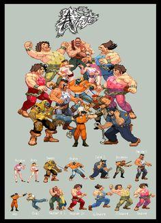 Final fight Sprites by HaruEta on DeviantArt Capcom Street Fighter, Street Fighter Alpha, Vintage Video Games, Retro Video Games, Final Fight, Alpha Art, Arcade, Beat Em Up, Retro Videos