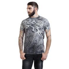 "Outer Vision Camiseta ""Rock Tattoo"" Gris • EMP"