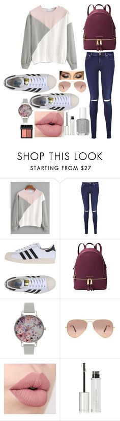 """""""Unbenannt #10"""" by albindlie ❤ liked on Polyvore featuring 7 For All Mankind, adidas Originals, MICHAEL Michael Kors, Olivia Burton, Ray-Ban, Givenchy and NARS Cosmetics"""