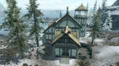 Windstad Manor is a homestead which can be built on land purchased in The Elder Scrolls V: Hearthfire