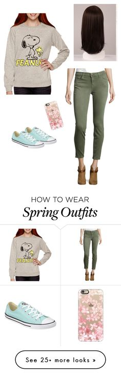 """My outfit"" by fashiongirlprox on Polyvore featuring Current/Elliott, Converse, Casetify and WigYouUp"