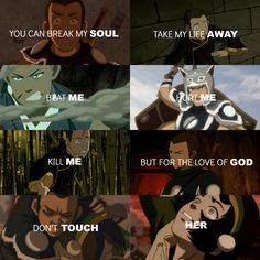 "Avatar: the last airbender ""For the love of god don't touch her"" #Zokka #Toph #Tokka"
