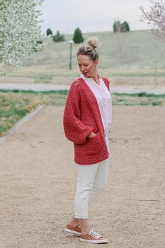Ravelry: Day Date Cardigan pattern by Jess Coppom Bishop Sleeve, Cardigan Pattern, Easy Crochet Patterns, Dating, Ravelry, Men Sweater, Day, Sleeves