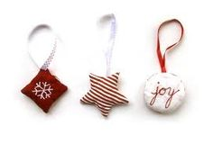 fabric christmas decorations - Google Search