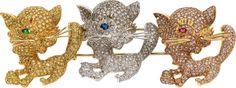 Colored Diamond, Diamond, Multi-Stone, Gold Brooch.