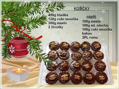 Christmas Candy, Christmas Baking, Christmas Cookies, Christmas Recipes, Czech Recipes, Thing 1, Kakao, Sweet Recipes, Sushi