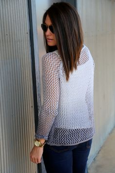 Shaded Crochet Knit {Gray} - The Rage - 3
