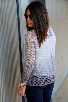 Shaded Crochet Knit {Gray}