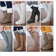 2 PAIRS BOOT SOCKS WITH LACE AND BUTTONS CUTE 2 PAIRS BOOT SOCKS WITH LACE AND BUTTONS CUTE Accessories Hosiery & Socks