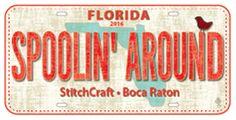 Spoolin' Around Fabric-Plate StitchCraft - Boca Raton, FL 2016 Row by Row Experience Zebra FabricPlate