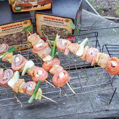 Herkkusalaatti kesäkurpitsasta / Tinskun keittiössä ja Tyynen kaa Shrimp, Meat, Food, Essen, Meals, Yemek, Eten