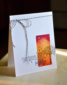 Autumn Hills Revisited: Thankful For You Card by Maile Belles for Papertrey Ink (October 2014)
