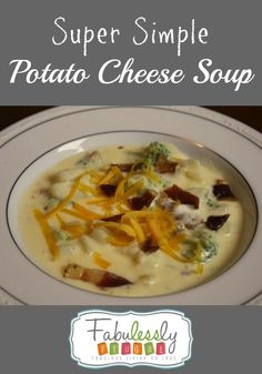Super simple and quick to make Potato cheese soup!