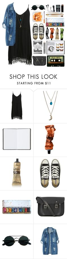 """""""Bad habits..."""" by babemagnet00 ❤ liked on Polyvore featuring Miss Selfridge, Harrods, Aesop, Converse, Michele, The Cambridge Satchel Company and Chicnova Fashion"""