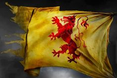 The Royal Standard of Scotland, also known as the Lion Rampant of Scotland. Used historically by the King of Scots, the Royal Standard differs from Scotland's national flag, the Saltire, in that its correct use is legally restricted to only a few Great Officers of State who officially represent the Sovereign in Scotland.