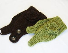 CROCHET PATTERN Ear Warmer (Sizes 12 month to adult) Instant Download