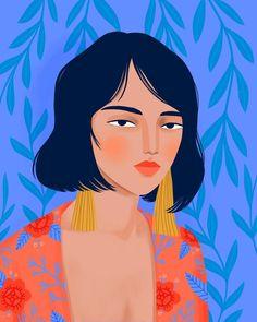 Kimono Girl Art Print by Petra Braun Illustration - X-Small Art And Illustration, People Illustration, Portrait Illustration, Character Illustration, Illustration Fashion, Fashion Illustrations, Illustrations Posters, Art Inspo, Kunst Inspo