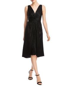 Bailey 44 Sofia Twist-Front Dress Back to Results - Women - Dresses - Cocktail & Party - Bloomingdale's Cheap Black Dress, Black Dress Outfits, Unique Prom Dresses, Formal Dresses, Short Sleeve Dresses, Dresses With Sleeves, Dress Backs, Knit Dress, Dresses Online