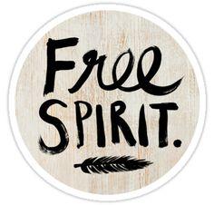 'Free Spirit' Sticker by TheLoveShop Spirit Shirts, Hand Illustration, Free Spirit, Sticker Design, Sell Your Art, Decorative Throw Pillows, Floral, Vinyl Decals, Stickers