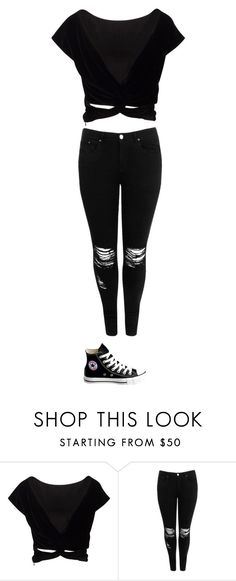 """Untitled #38"" by dwalder-1 ❤ liked on Polyvore featuring Boohoo and Converse"