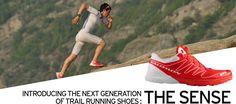The new Salomon Sense Trail running shoe.
