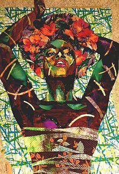 """Afrodite"" quilt art by Bisa Butler"