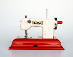Regina Vintage Children's Sewing Machine Toy by TheCuriousCaseShop, €40.00 - a favorite of mabelretro.com
