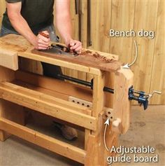Pipe clamps are inexpensive and very strong. Great idea for the budget challenged woodworker.